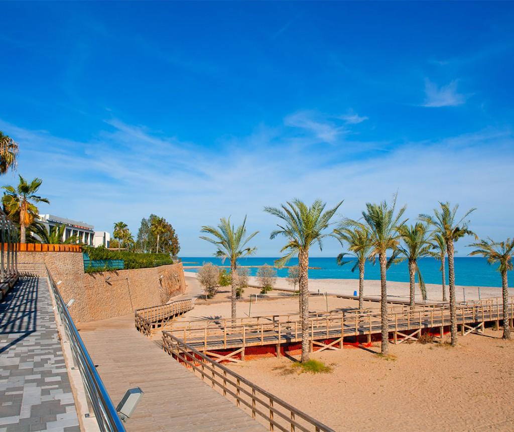 Playa y paseo de Benicassim
